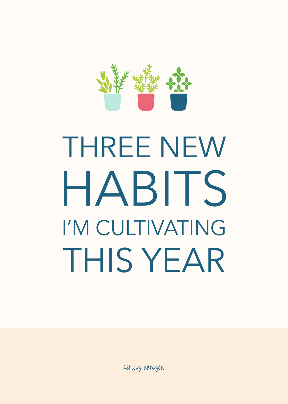 Three New Habits I'm Cultivating This Year