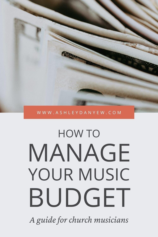 for the church musician a music program budget worksheet ashley