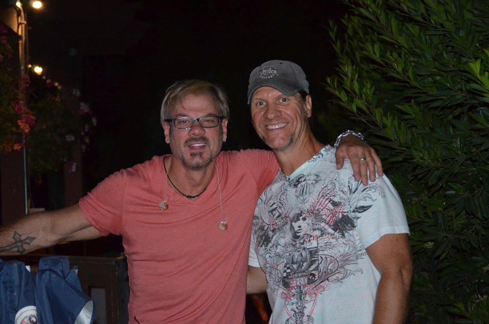 JD & Phil Vassar backstage during a recent concert together.JPG