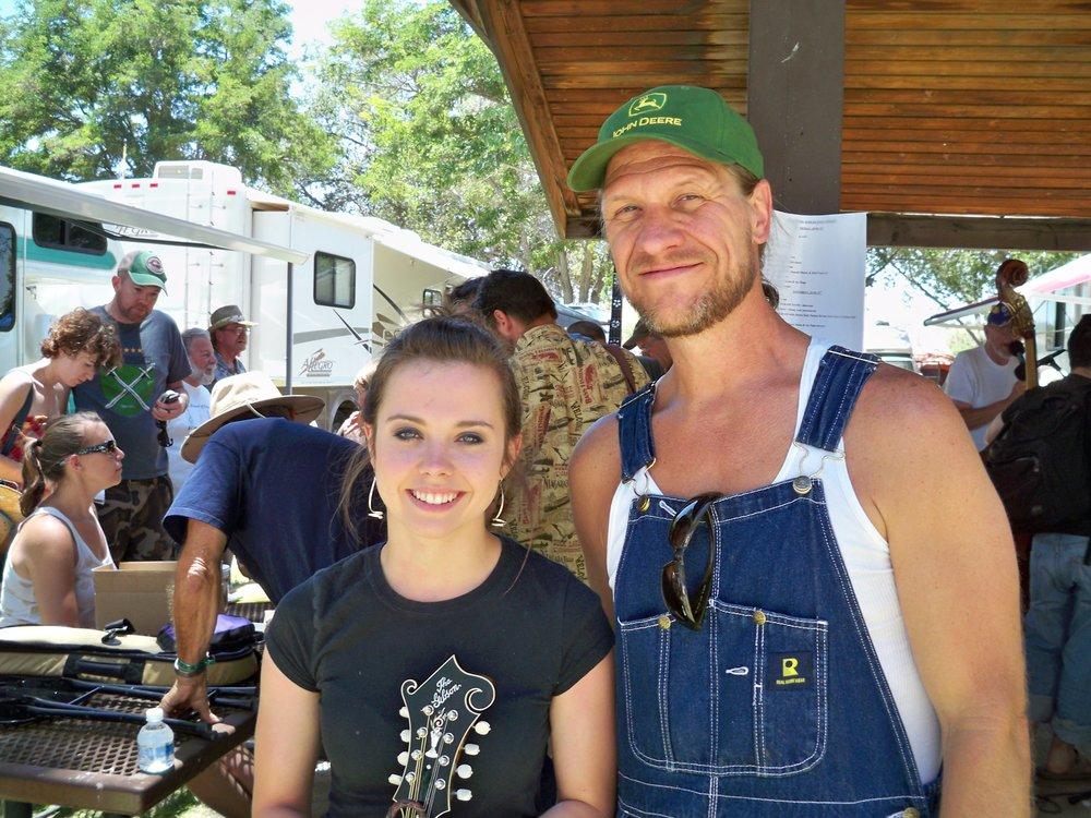 JD PRIEST & Sierra Hull @ 2010 Huck Finn Festival.JPG