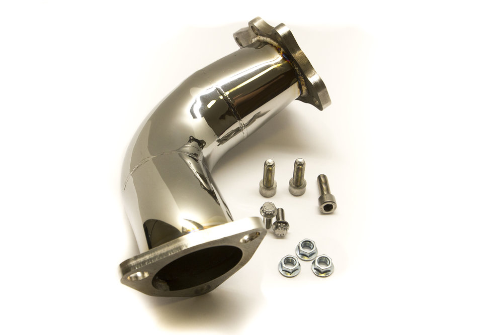 "Full stainless steel 3"" exhaust elbow"