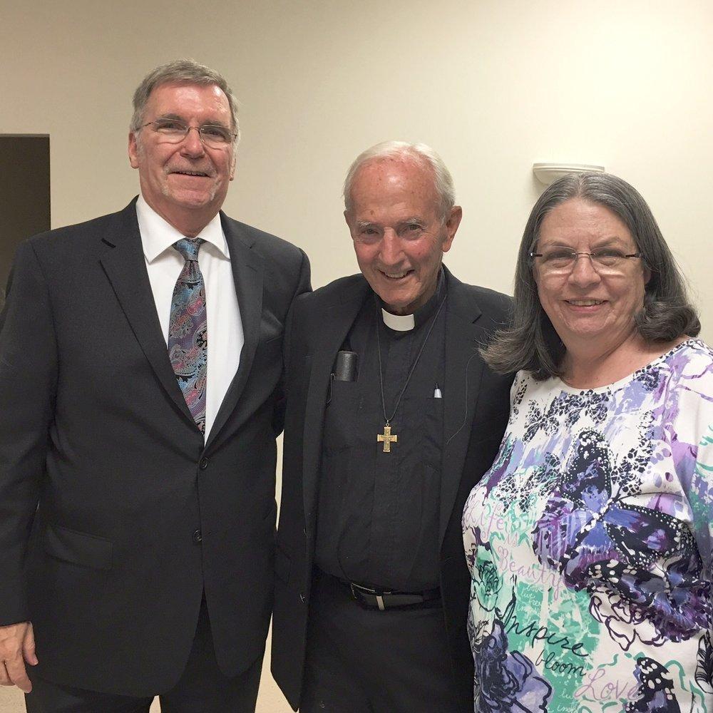 Joe, Fr. Grohe & Rhonda