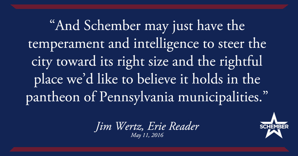 Jim Wertz, Erie Reader - May 11, 2016
