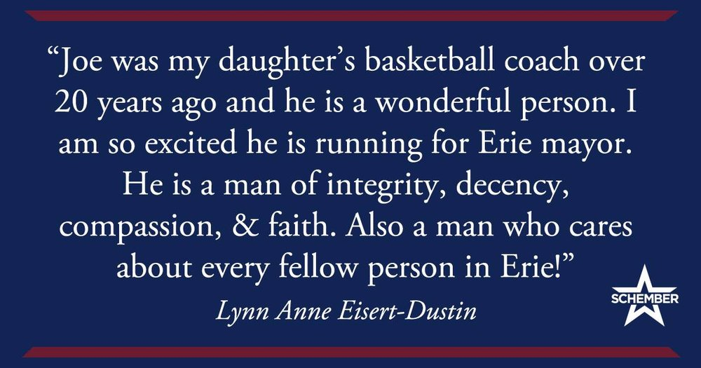 Lynn Anne Eisert-Dustin Endorses Joe Schember