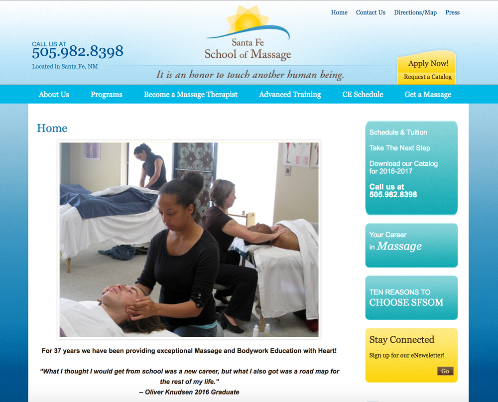 Santa Fe School of Massage Successful School of Massage in Santa Fe, NM