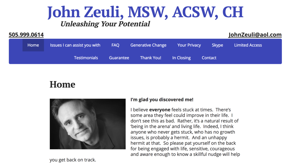 Home Page of the John Zeuli Website