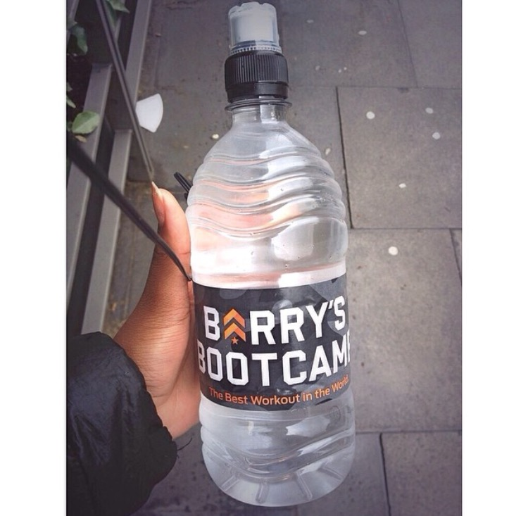 Barry's Bootcamp water