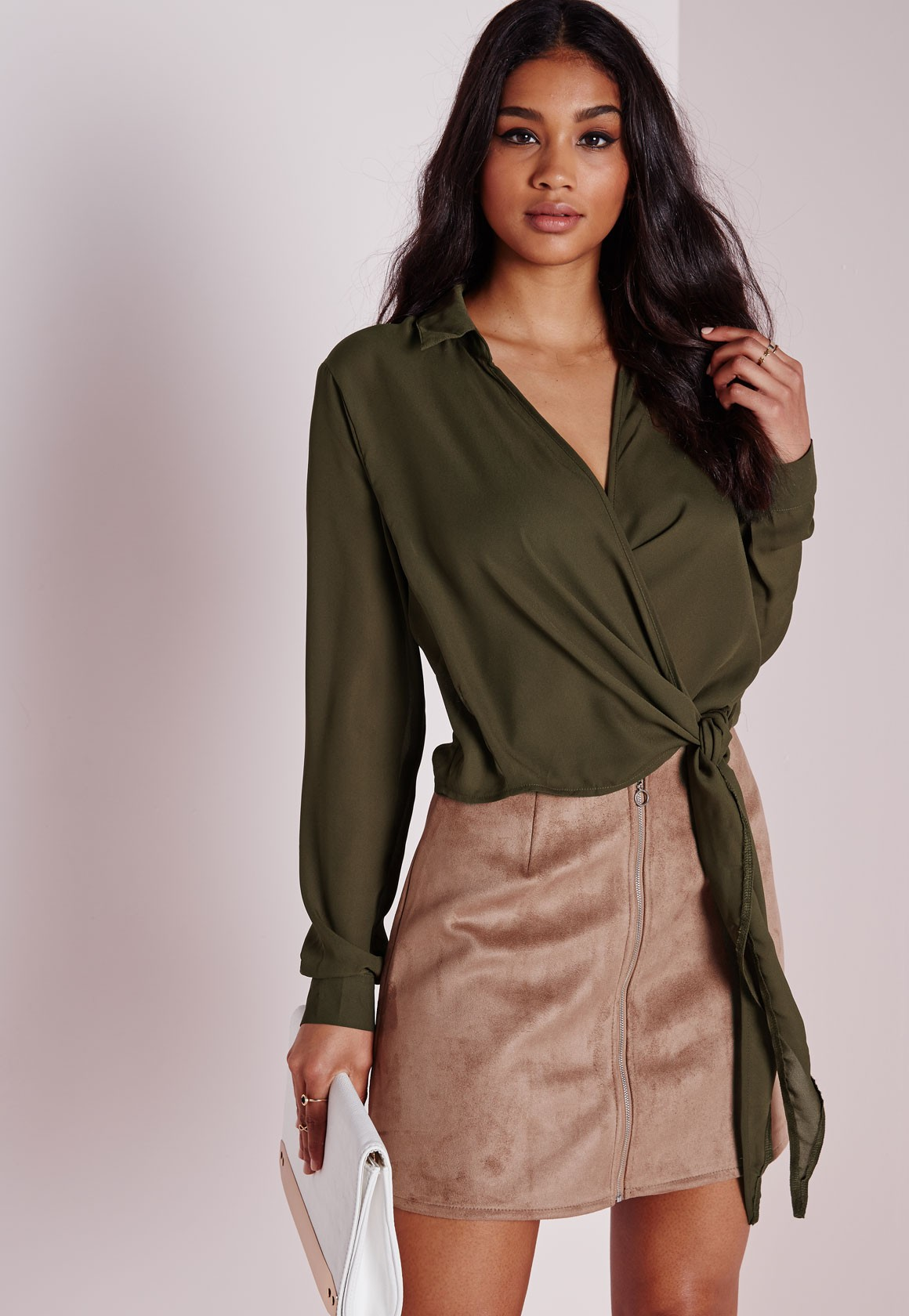 KHAKI BLOUSE WANT