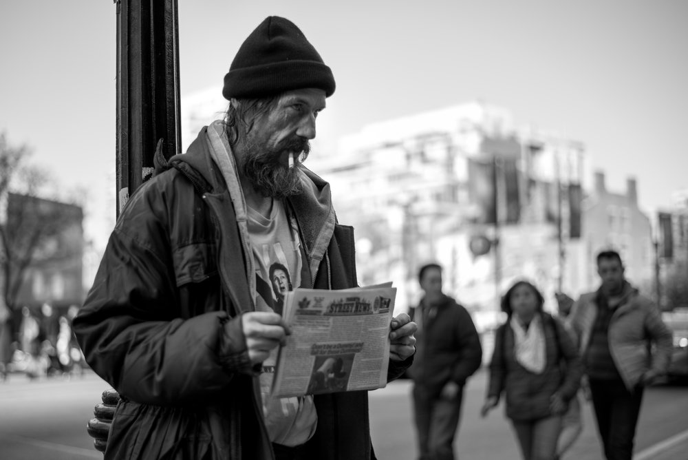 """HOMELESS, NOT FACELESS   """"Homeless, not faceless"""" is a project to show the human side of people struggling in the streets of Toronto. Each one of them has a story to tell, and they are any more different than you and I."""