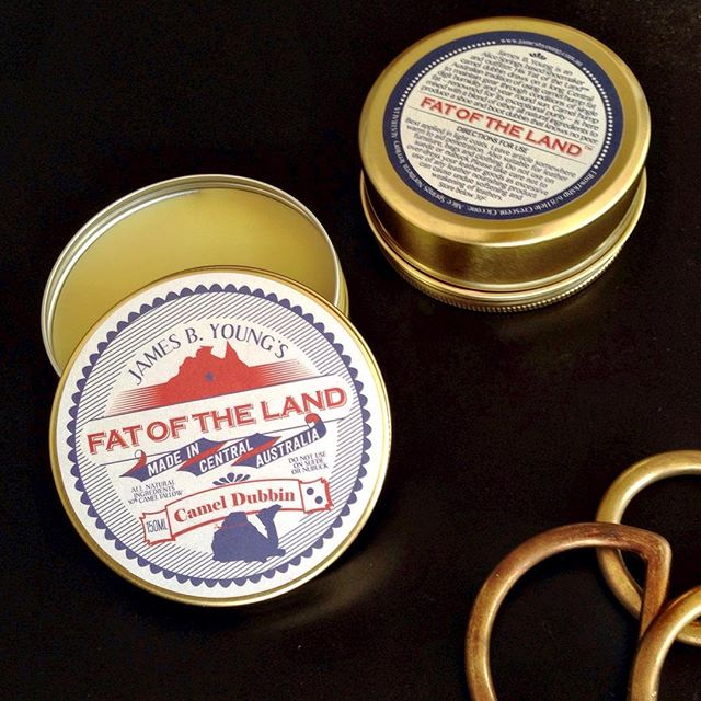 It's is not too late for a high quality Chrissy gift..... James B. Young's 'Fat of the Land' TM camel dubbin is an all purpose leather nourisher.... Made from ethically and humanely sourced all natural and Australian ingredients - this is a throwback product to the time before petrochemicals when leather nourishing was the domain of animal and plant based fats and oils. Learn more or place an order at www.jamesbyoung.com.au or visit us here at #Elbowrkshp and buy direct #jamesbyoung #leathernourisher #dubbin #elbowrkshpretail #alicesprings #camelproducts #australianmade
