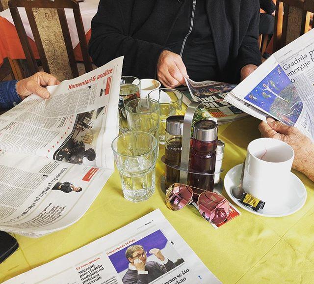 Back to #Croatia normal. Natrag na #hrvatski normal. #coffee #newspaper #coffeetime #coffeeaddict #capuccino #coffeewithdad #dad #fatherdaughter #fatherdaughterbond #tata #tataikcer #kcer #zagreb #hrvatska