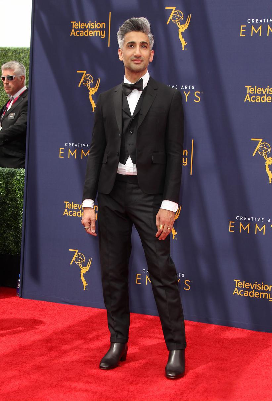 Tan France at the 2018 Creative Arts Emmy Awards