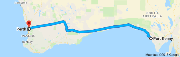 21 h 39 min (2,089.3 km) via National Highway 1 and National Highway 94