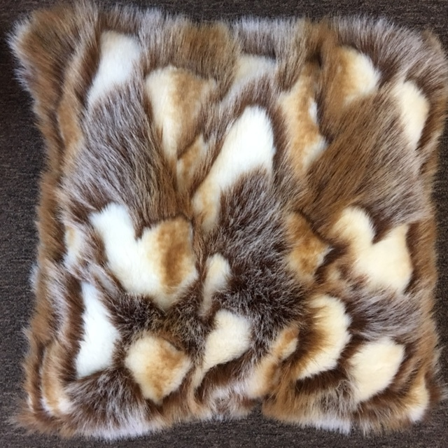 "22""X22"""" Faux Fur pillow with down insert."