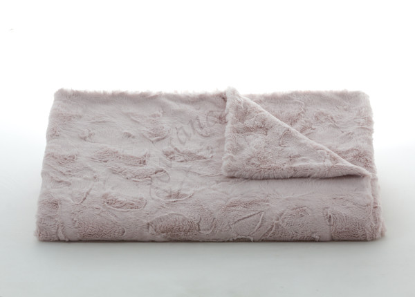 Lux Rabbit Throw in Blush