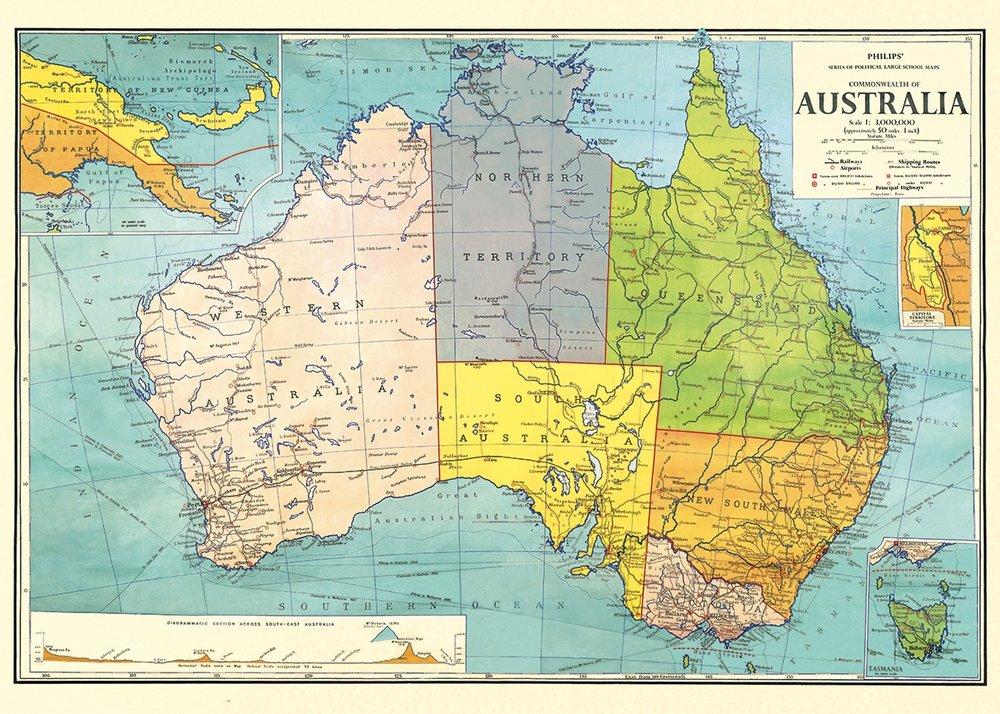 Australia Map 3 Wrap