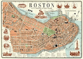 Boston Map 2 Wrap