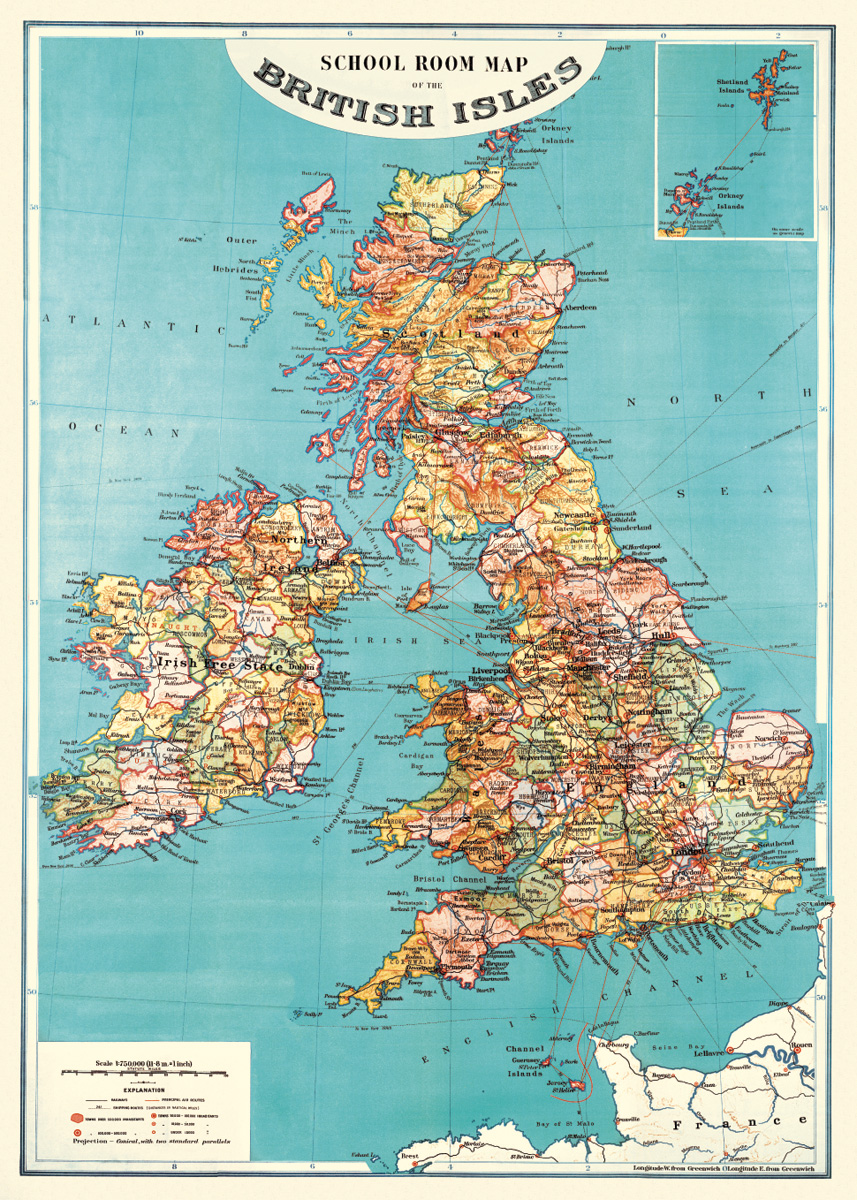British Isles Map Wrap