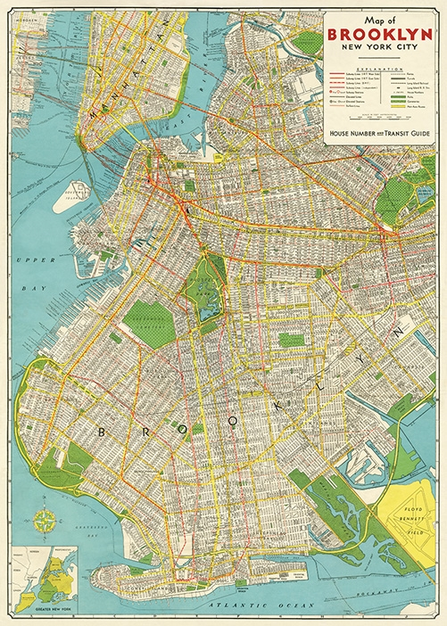 Brooklyn Map Wrap