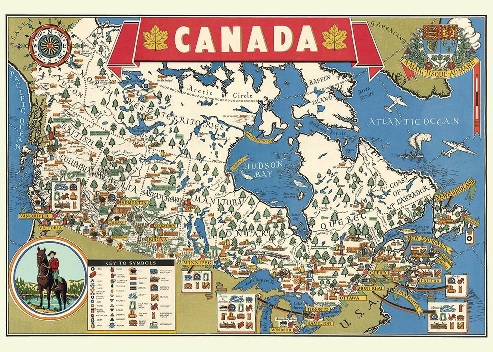 Canada Map Wrap