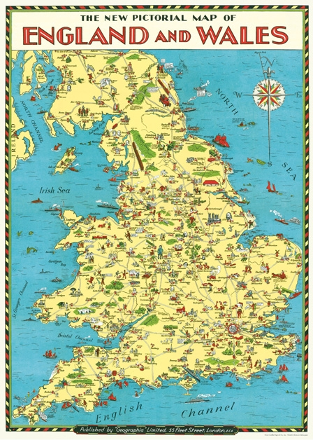 England Map Wrap