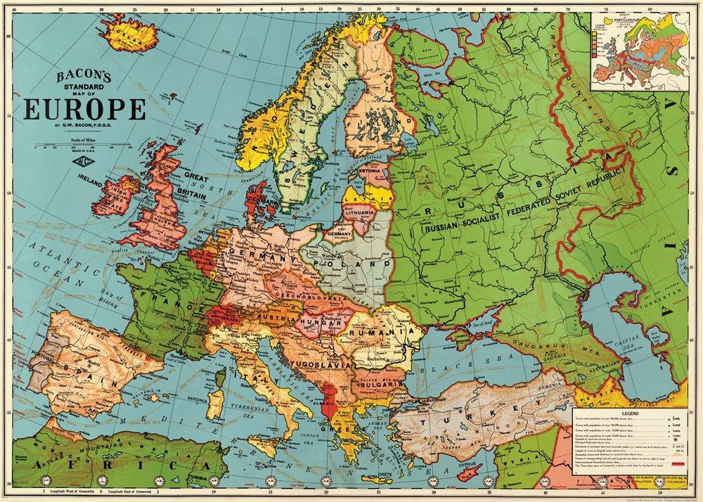 Europe Map 3 Wrap