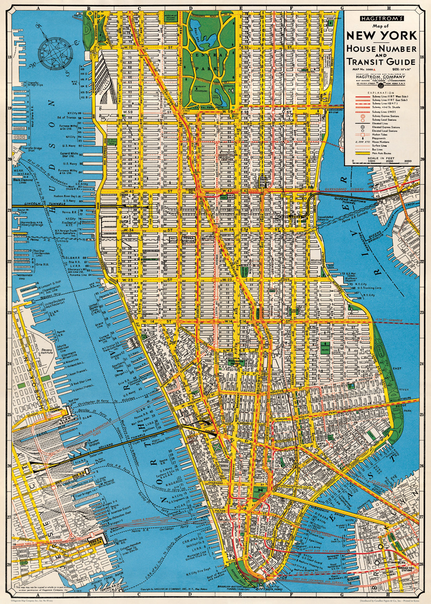 New York Map Wrap