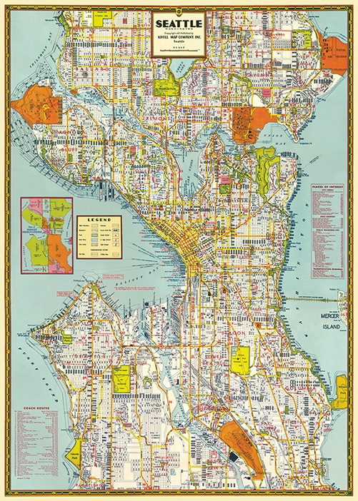 Seattle Map Wrap