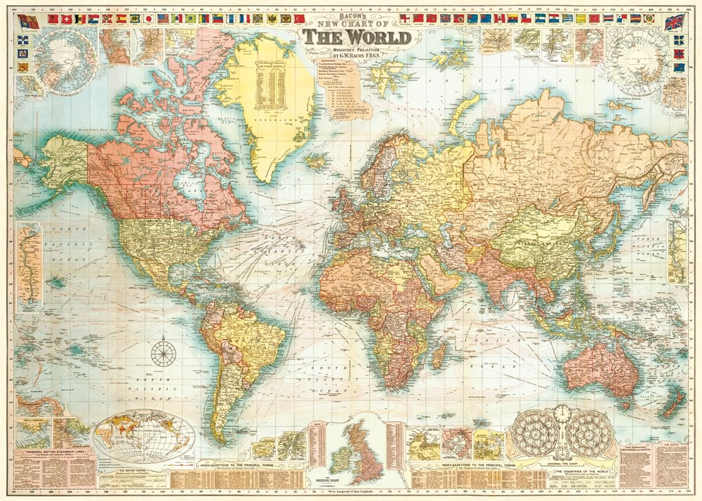 World Map 5 Wrap