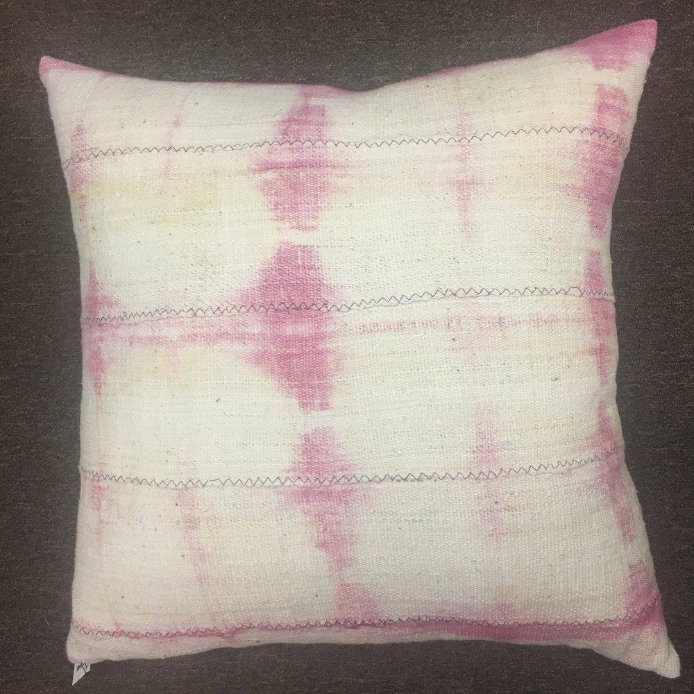 Pink Mudcloth Pillow $175