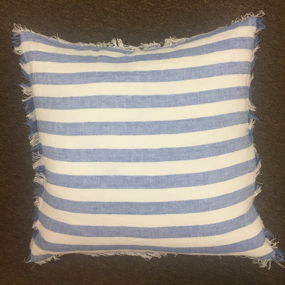Striped Linen Pillow $105
