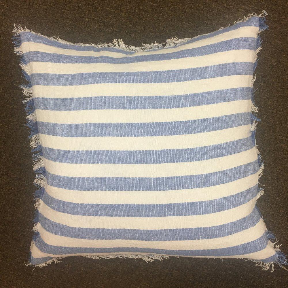 Striped Linen Pillow $105
