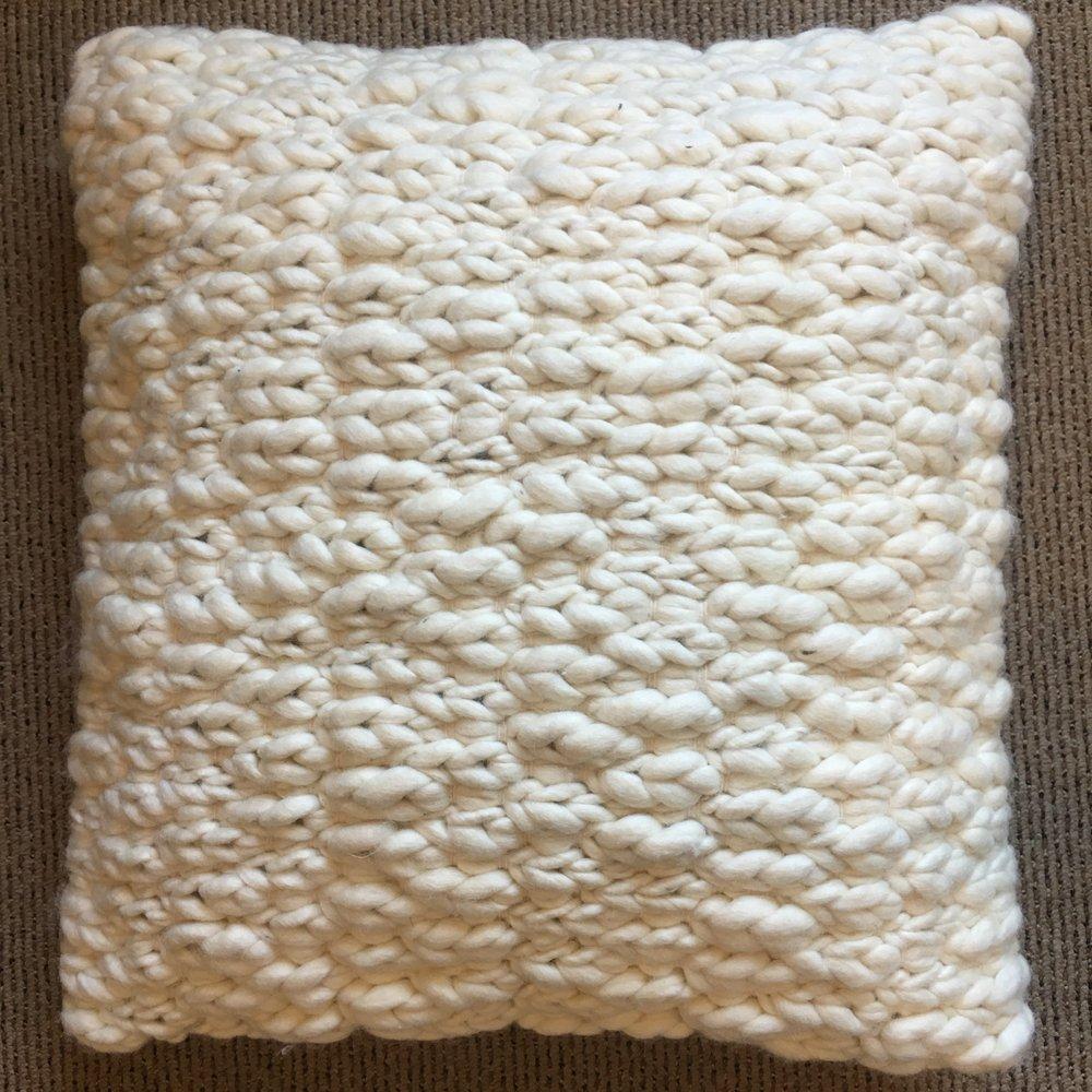 Wool Knit Pillow $56