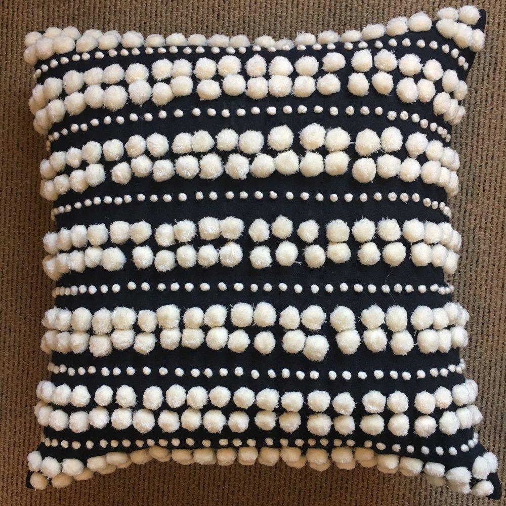 Pom Pom Pillow $170