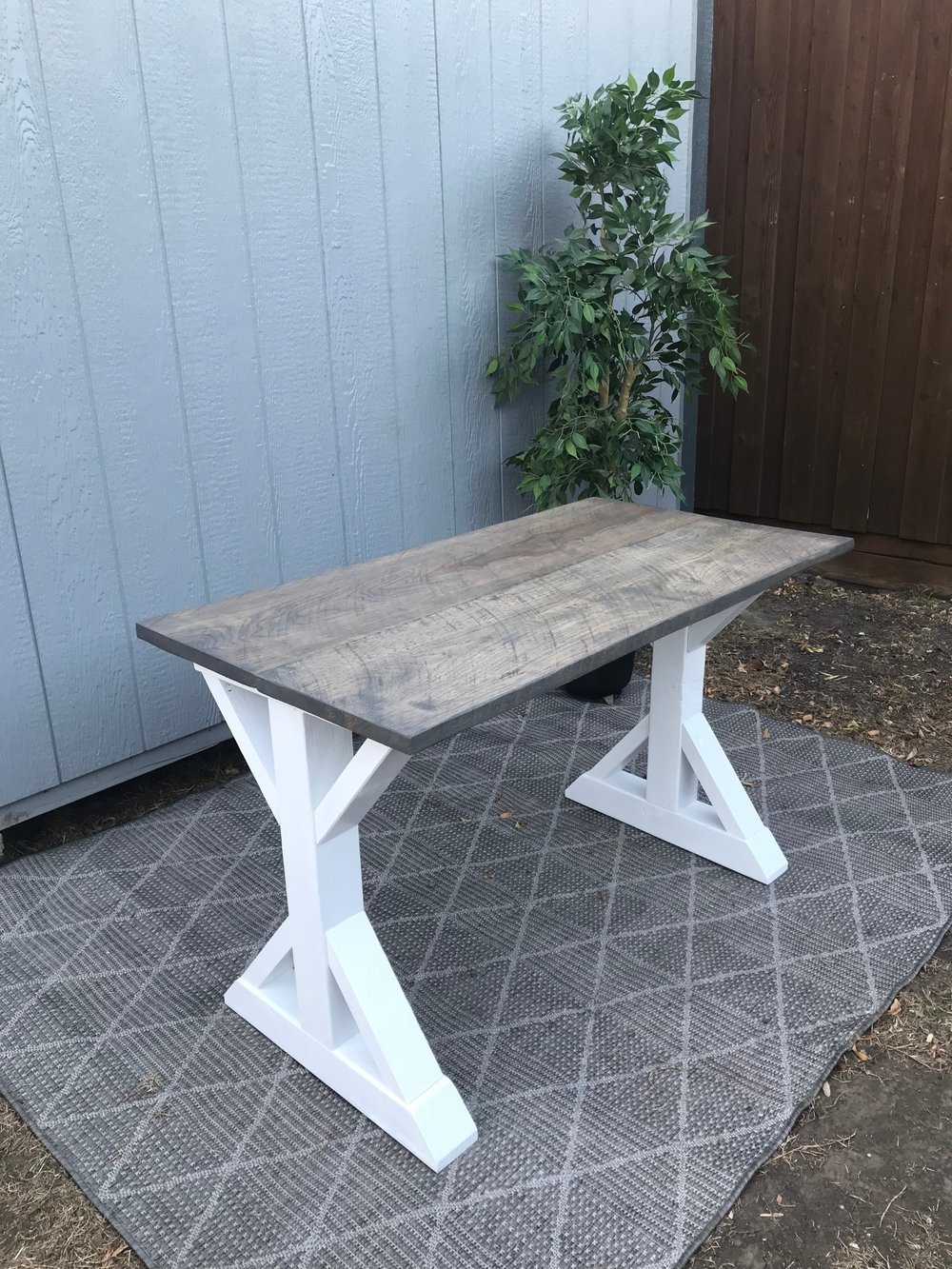 wood: PECAN/ stain: classic gray