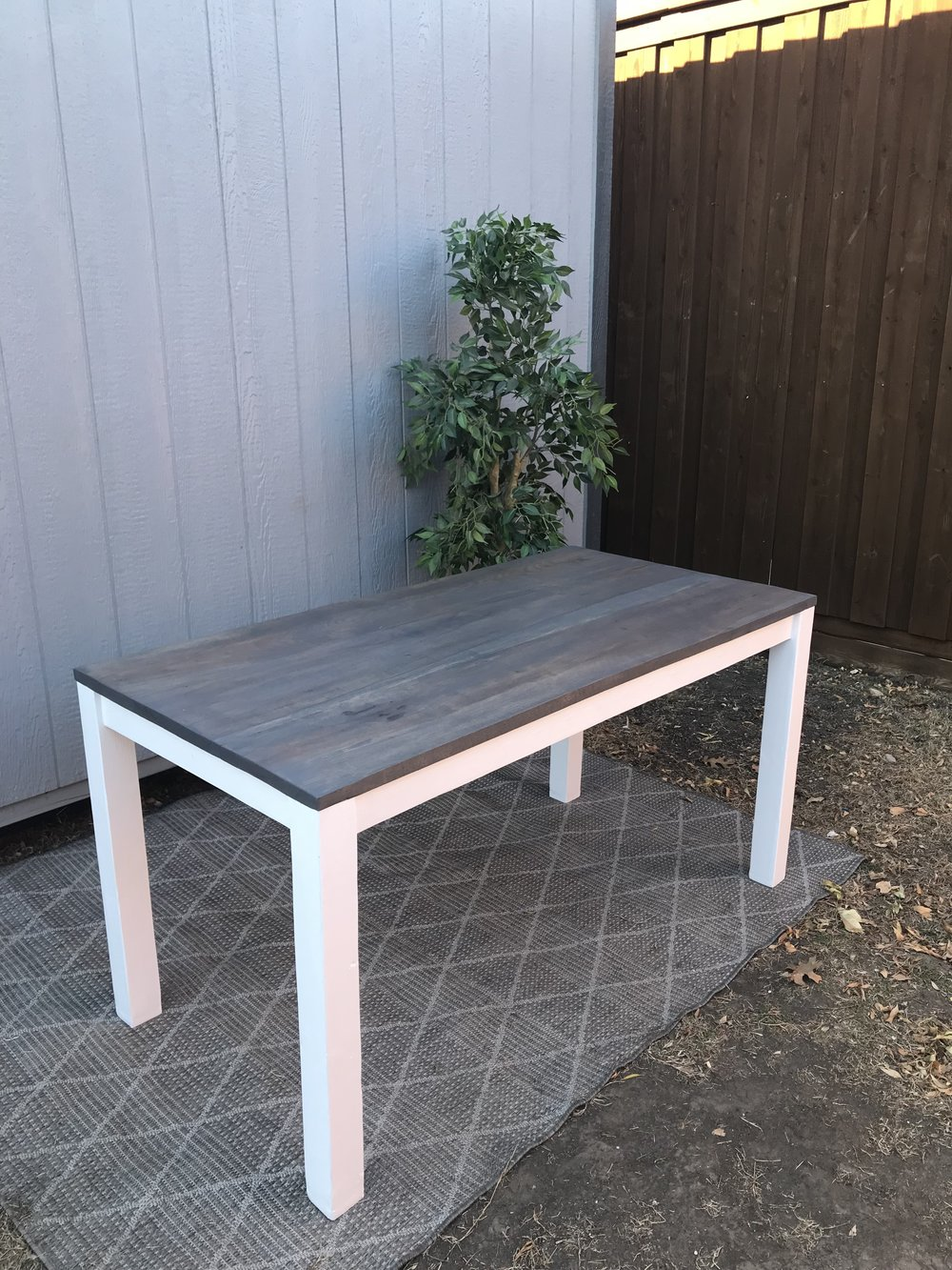 wood: PECAN/ stain: V. weathered gray