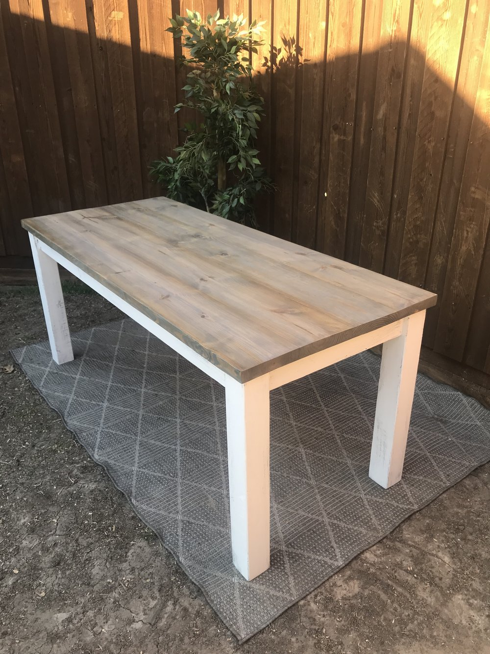 wood: PINE/ stain: weathered gray