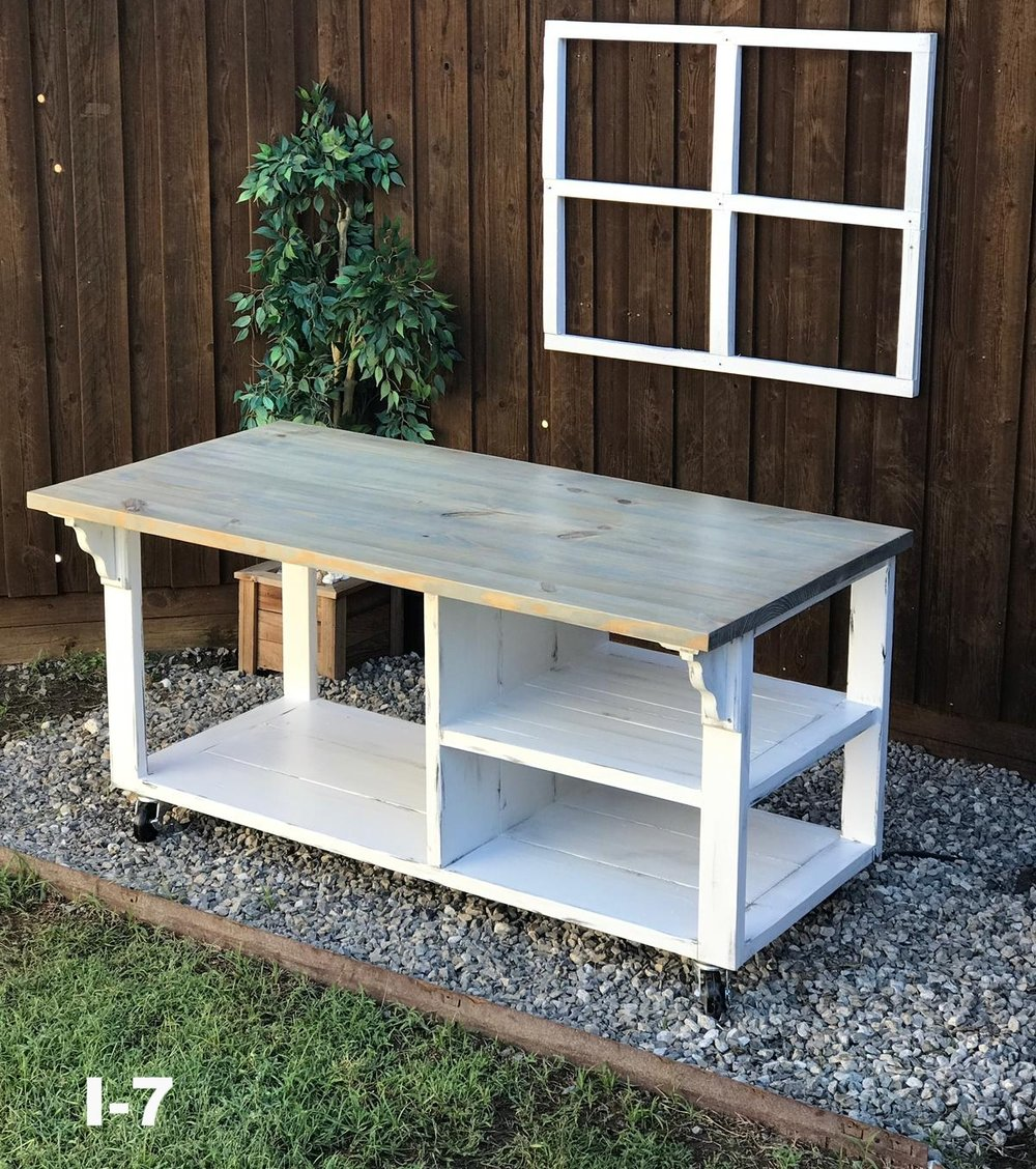 weathered gray/ base white distressed