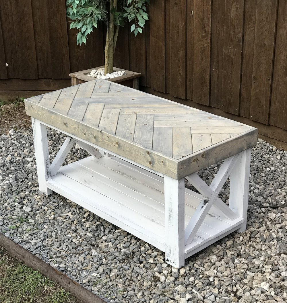 wood: PINE/ stain: classic gray
