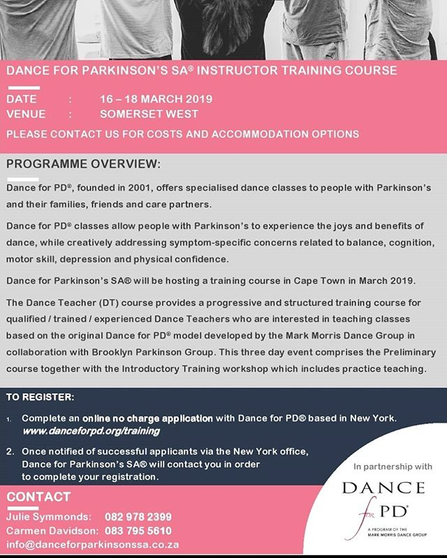Dance for Parkinson's Teacher Training Course