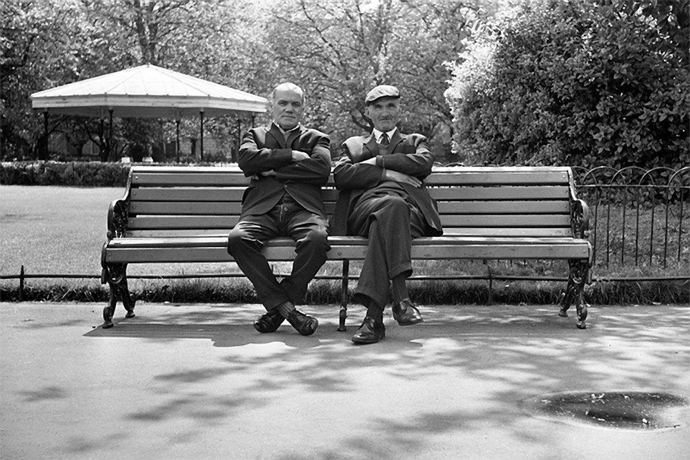 St Stephens Green Dublin - Boys On The Bench, 1973
