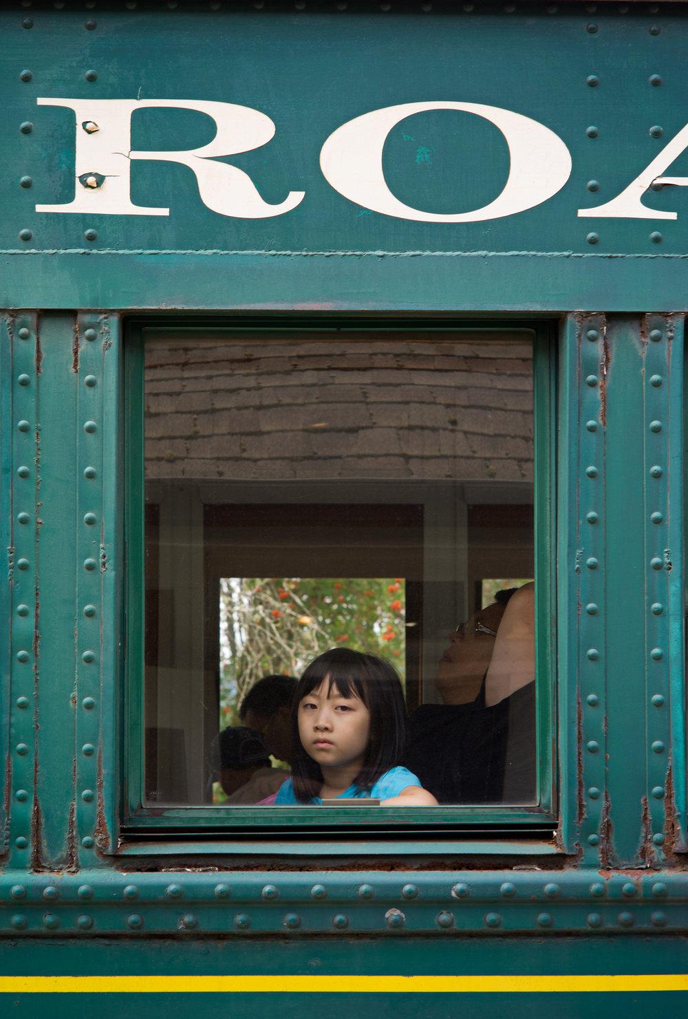 Girl On The Mt Rainier Scenic Railway, 2016