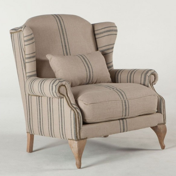 Charmant Sale $999. Victoria Striped Linen Chair