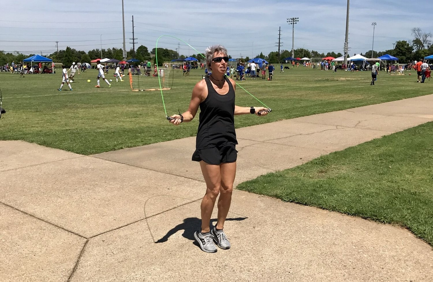 Sweaty Mommy Survival Guide Tip # 3: Fit In Fitness on the Practice Field