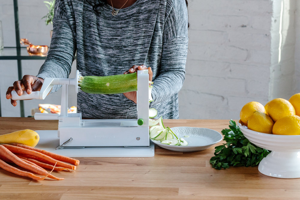 Inspiralizer  will surely not be shoved in the back of the kitchen cabinet & is ideal for anyone dedicated to meal prep Sundays