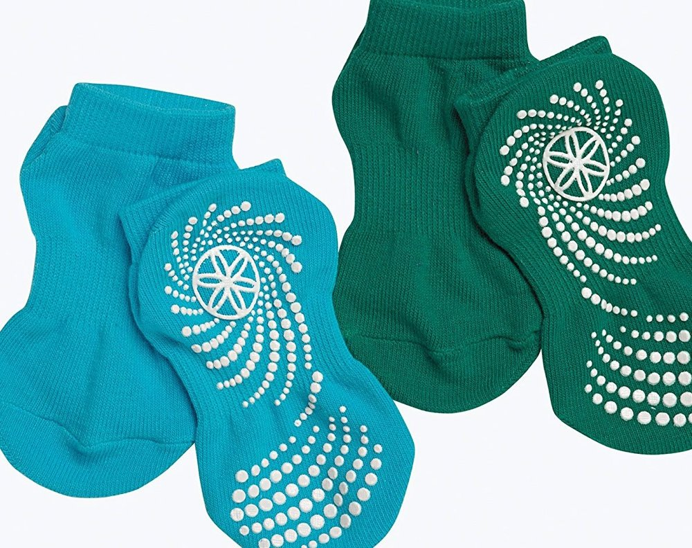 Gaiam  Grippy Socks is a nice way to  support a yogi friend who wants to share their passion with their kiddos