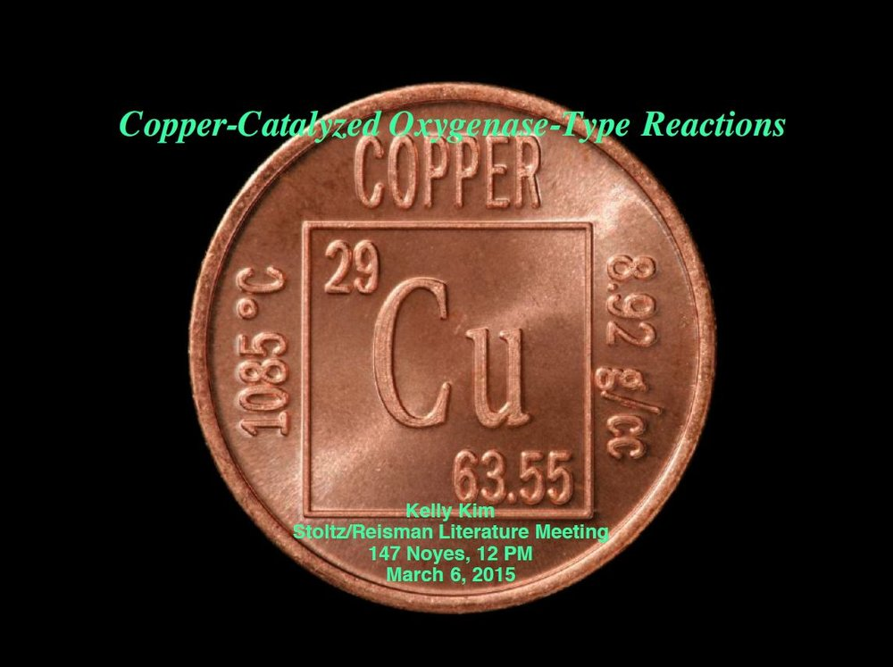 "2015: ""Copper-Catalyzed Oxygenase-Type Reactions"""