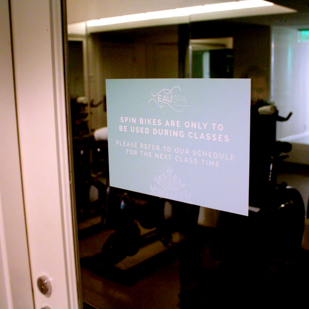 Eau Spa  Double Sided Adhesive Signs for Windows