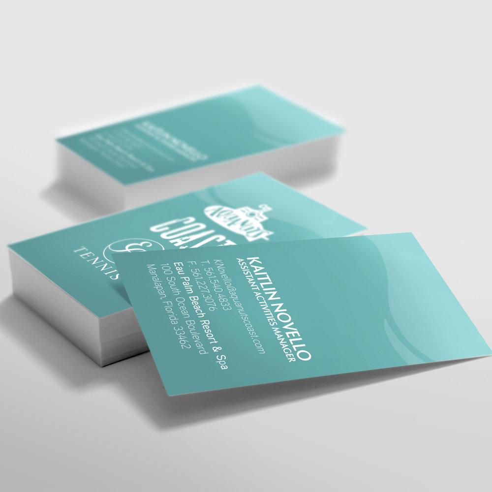 Aquanuts, Coast & Eau Tennis  Business Card Design
