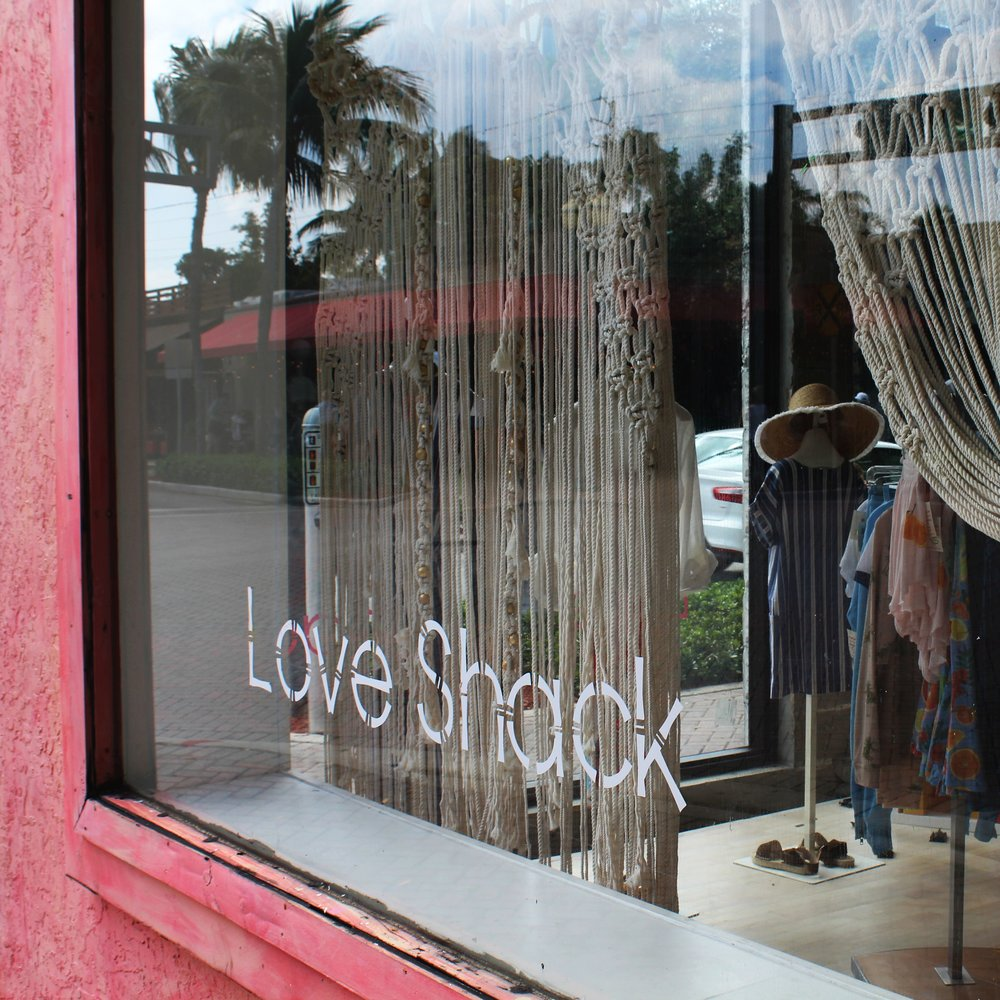 Love Shack  Window Vinyl, Design, Printing & Application (photographed in-house)